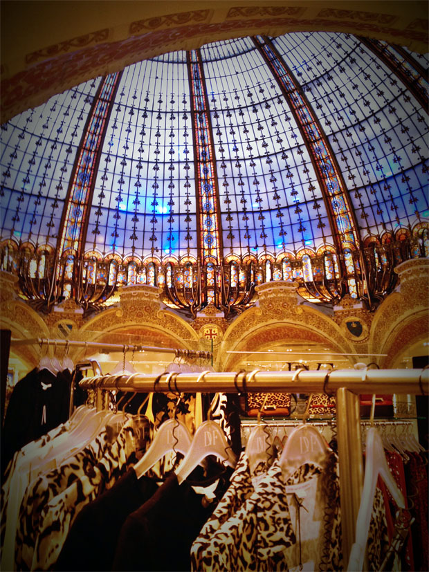 Galeries Lafayette Stained Glass Dome Views