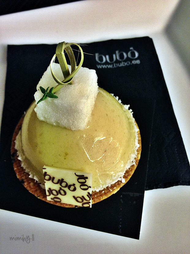 Lemon and Basil Individual Cake, Bubo