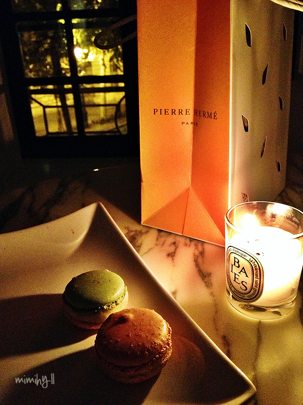 Pierre Herme by candlelight
