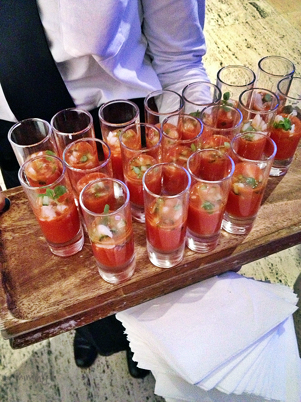QAGOMA Catering - Watermelon & Prawn Shooter
