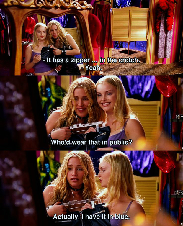 """I have a serious shopping problem!"" - Coyote Ugly"