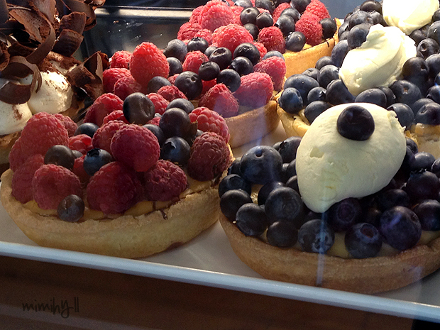 Freshly made tarts at Double Shot Espresso