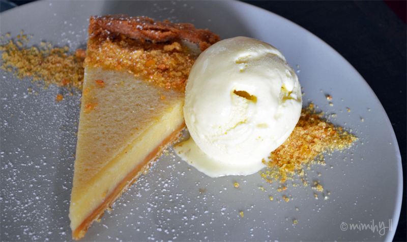 Alfredo's Pizzeria Lemon Almond Tart with Limoncello Sorbet