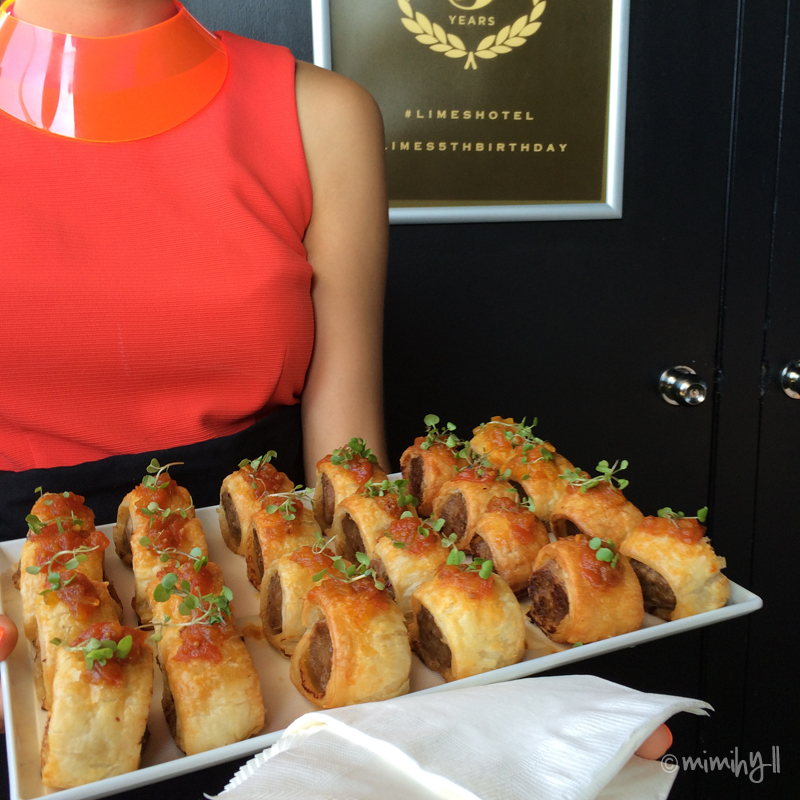 Limes Hotel Rooftop Bar and Cinema Relaunch - Sausage Rolls