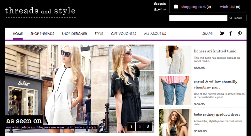 Threads and Style Website