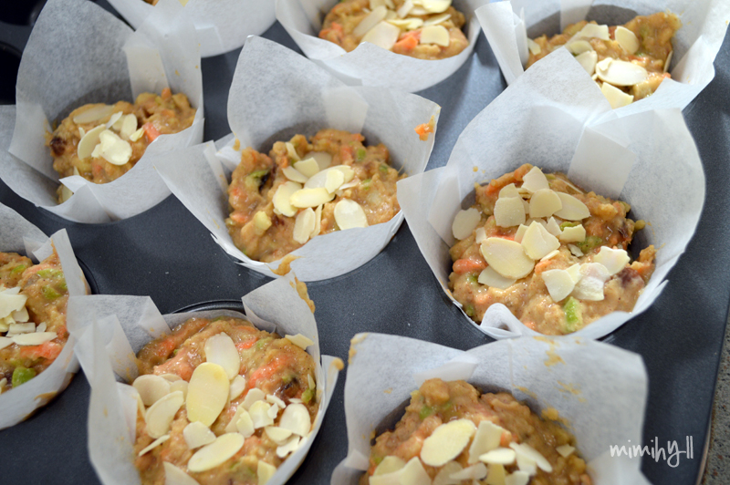 Carrot, Apple and Ginger Muffin Batter