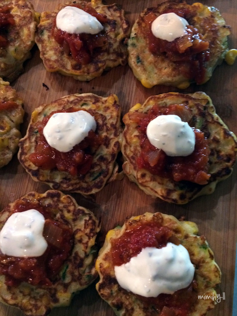 Little Pawpaw Corn and Zucchini Fritters