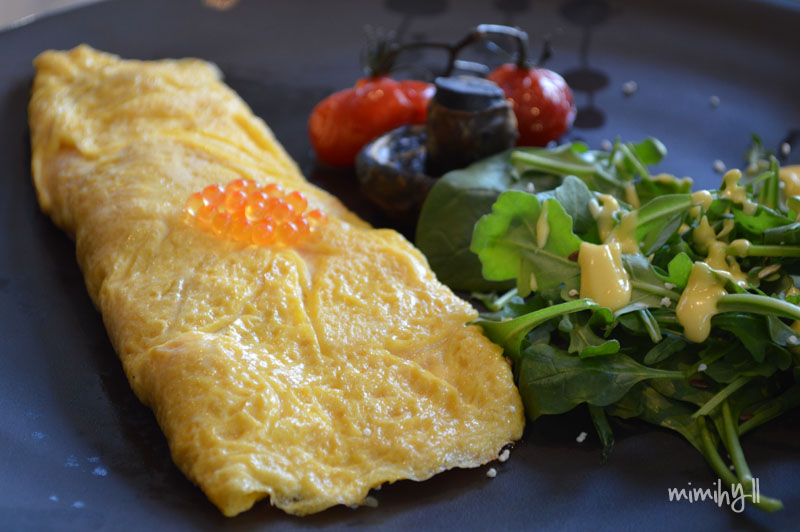Reef Seafood and Sushi Salmon Omelete