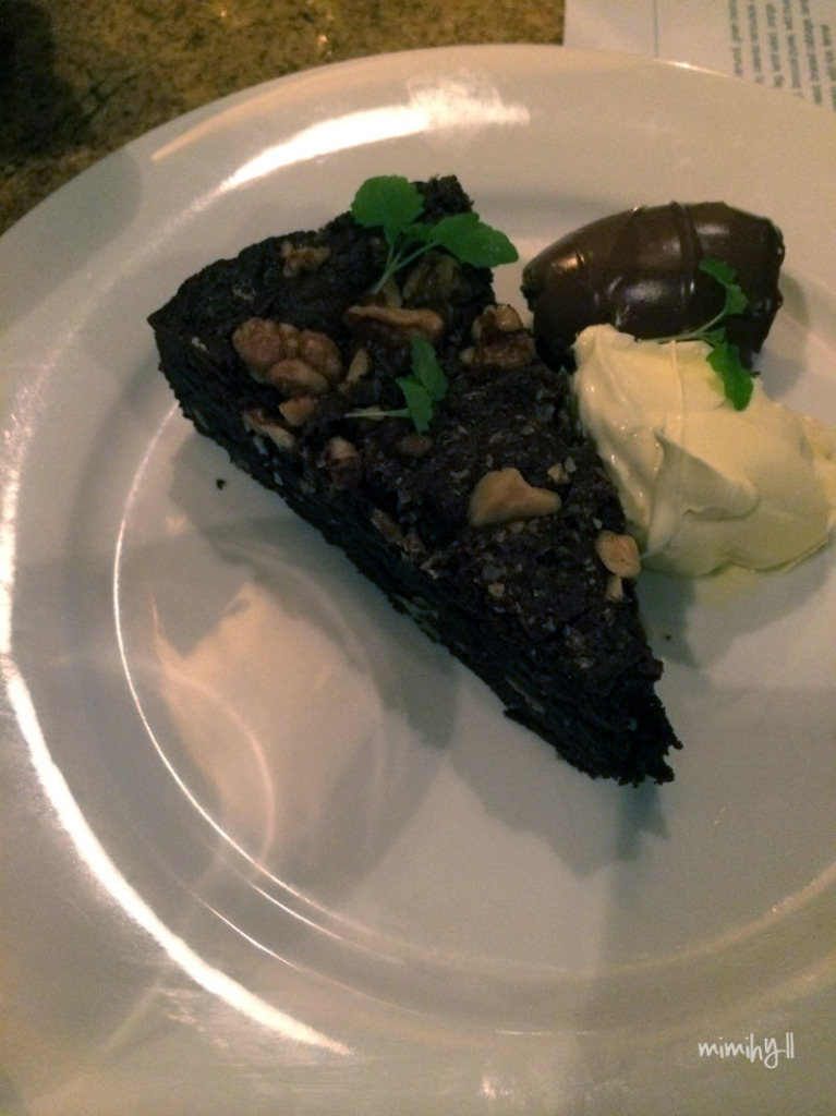 The Chelsea Bistro Chocolate and Walnut cake