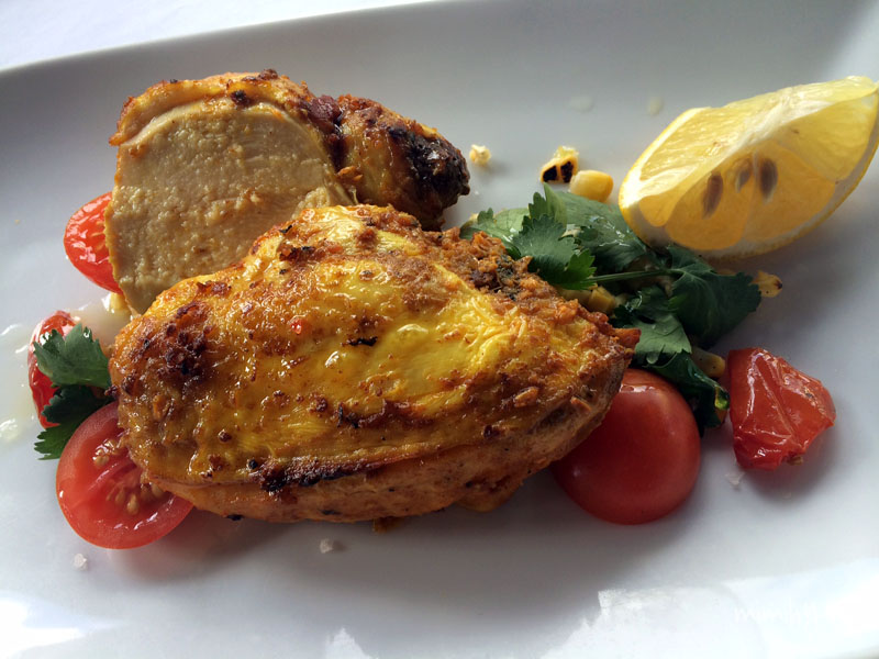 Spicers Balfour Pan fried chicken with salsa