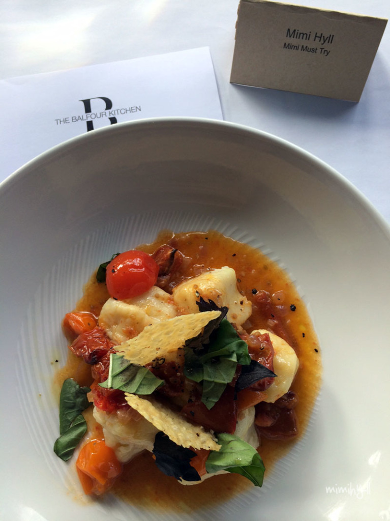Spicers Balfour Gnocchi with roasted tomato and basil