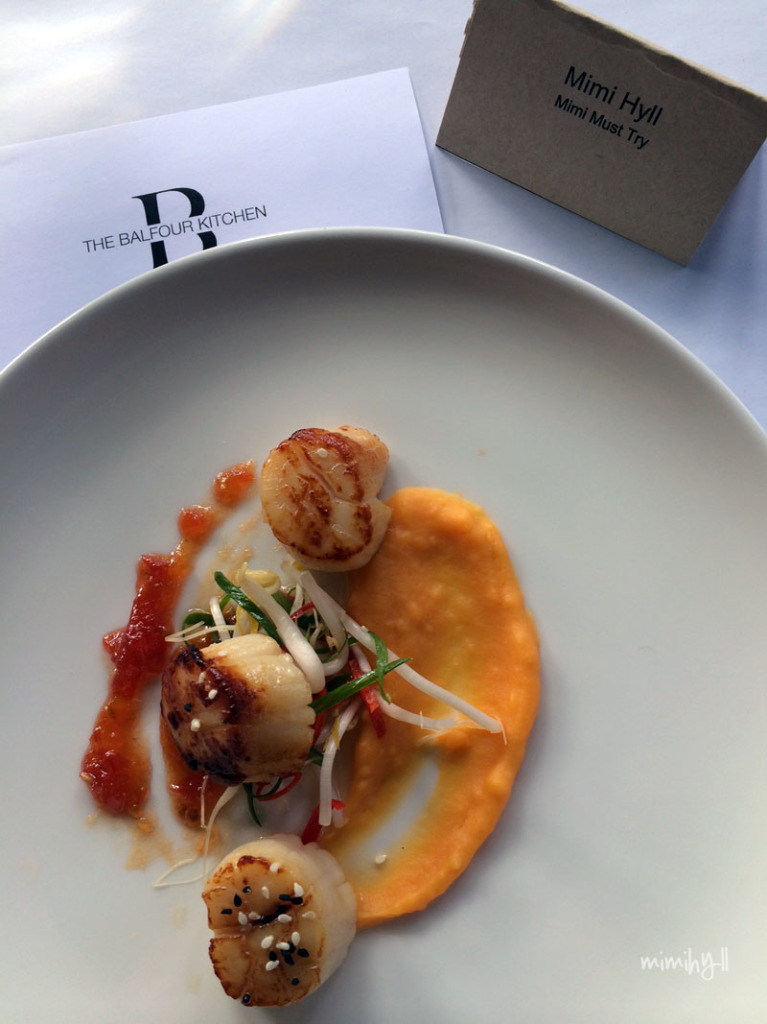 Spicers Balfour Scallops and Asian salad