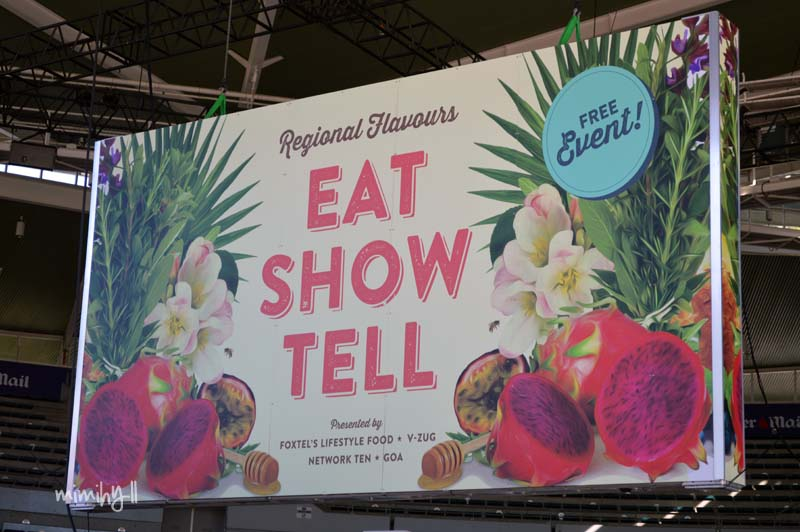 EAT, SHOW, TELL stage Regional Flavours, South Bank