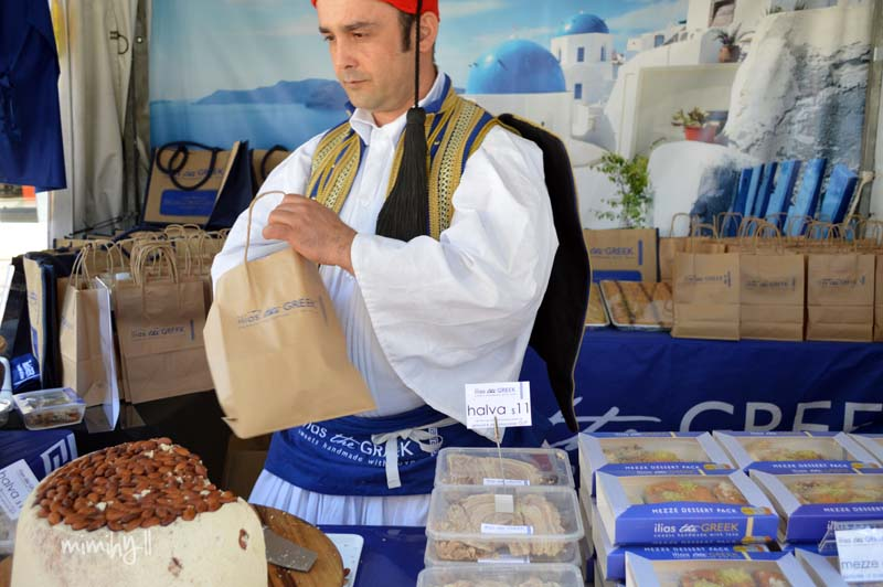 Illias the Greek stall at Regional Flavours, South Bank