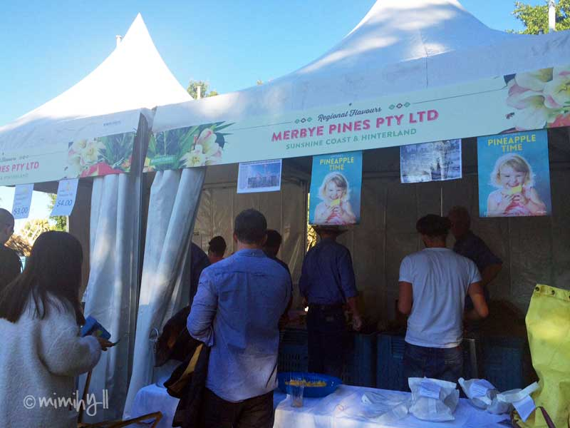 The Merbye Pines Pineapple Stall at Regional Flavours, South Bank