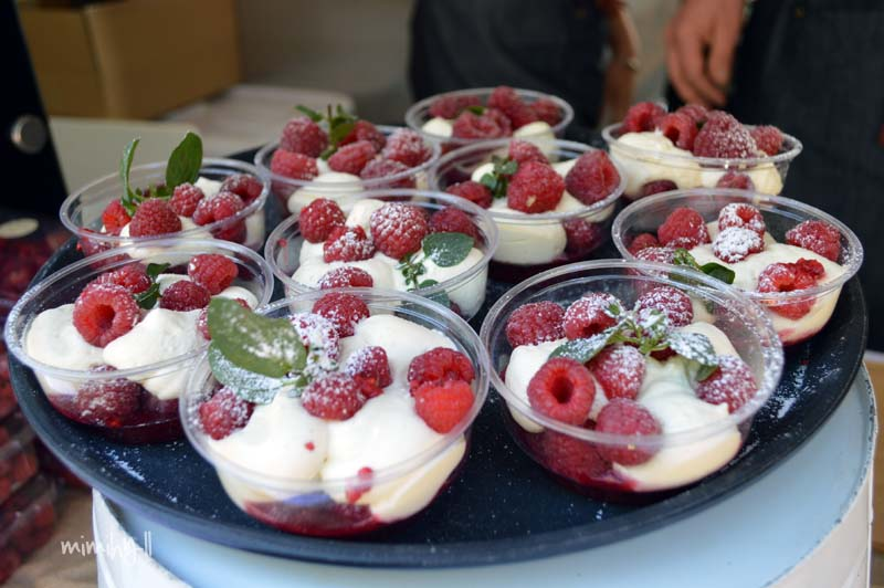The Raspberries and Cream punnets at Regional Flavours, South Bank