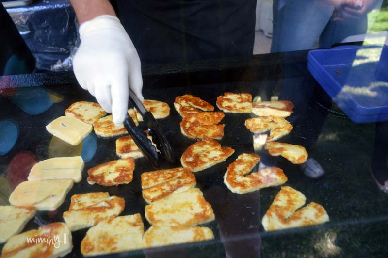 Olympus Cheese, Frying up Haloumi at Regional Flavours, South Bank