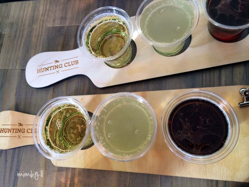 Tasting Paddles of Cider at Regional Flavours, South Bank