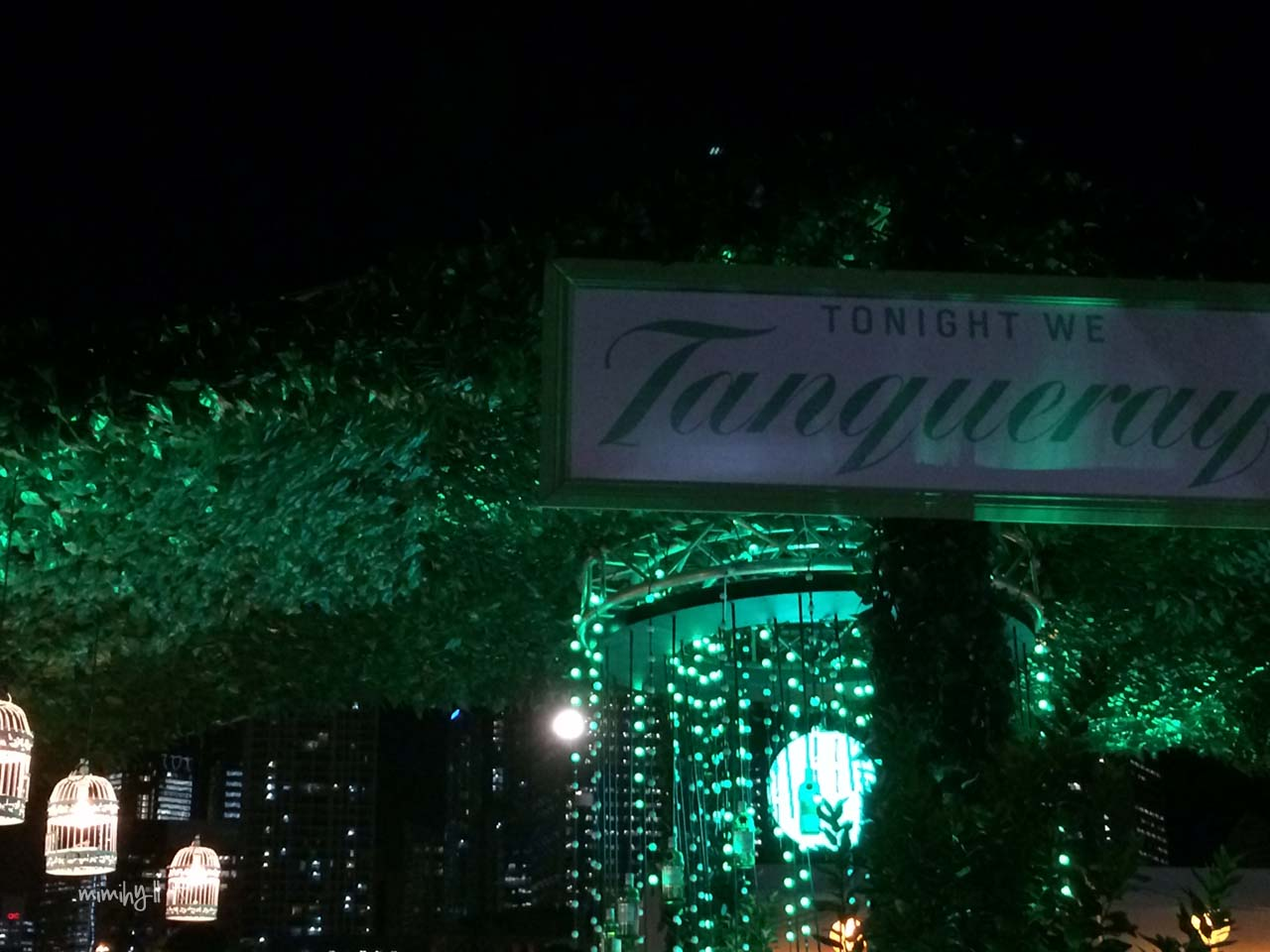 Green Glow at Tanqueray Gin, Night Noodle Markets