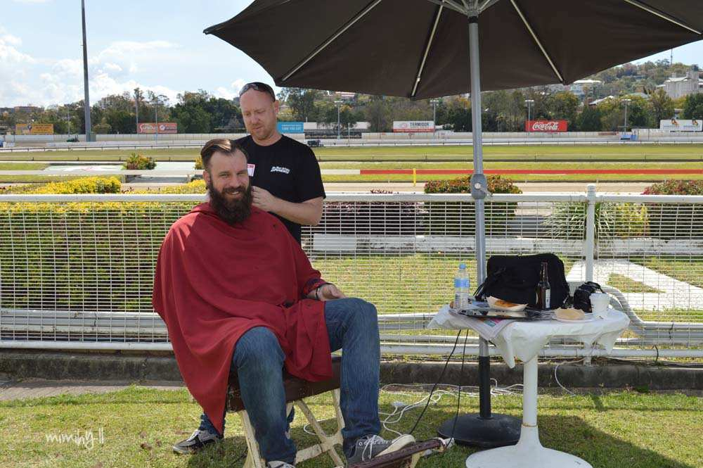 The resident barber at the Beer In Cider Launch Event