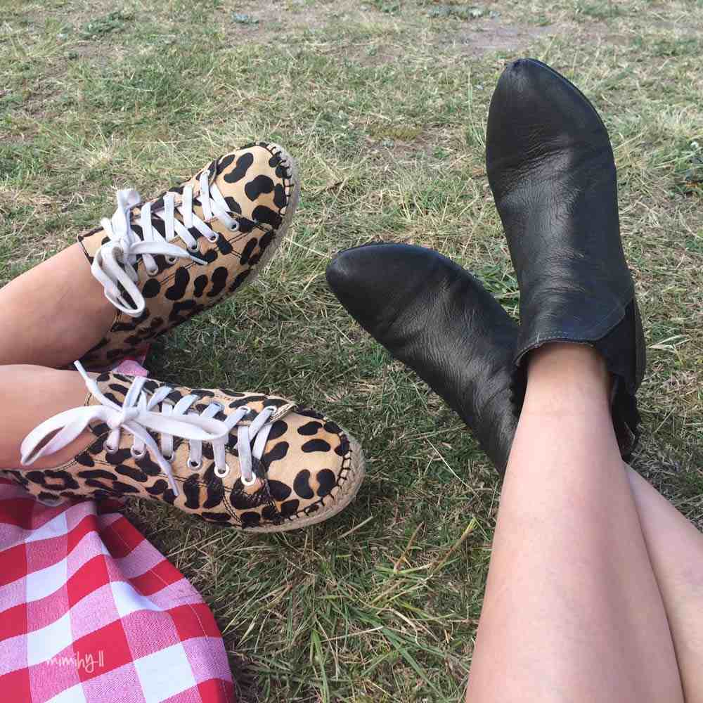 Picnicing and shoes at Beer In Cider Launch Event
