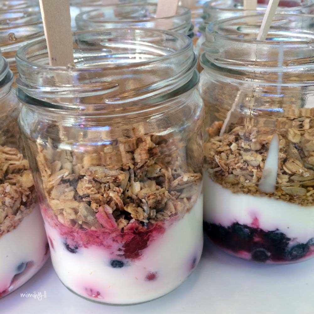 Muesli Pots for ProBlogger morning tea at QT Gold Coast