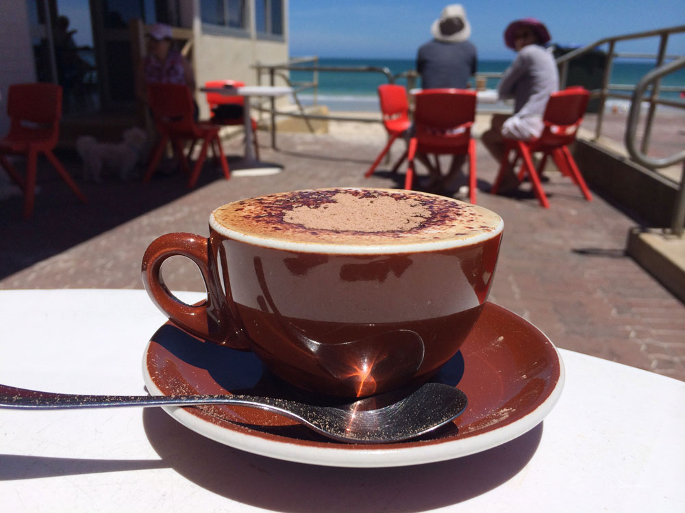 Joe's Kiosk coffee, Henley Beach Adelaide