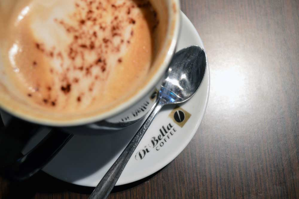 Cappuccino at Di Bella Coffee HQ photographed by Mimi Hyll